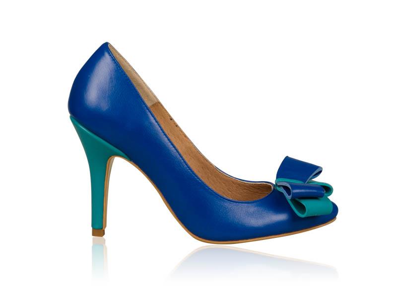 Pantofi dama albastri piele toc 9 cm Heaven