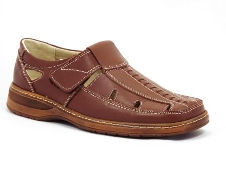 Sandale barbati maro piele naturala, tip sanda