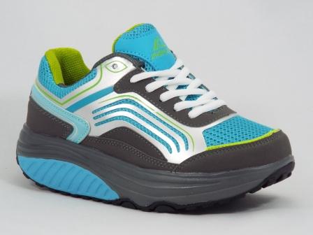 Adidasi dama gri cu albastru tip fitness