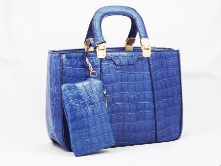 Geanta dama albastra croco Kelly