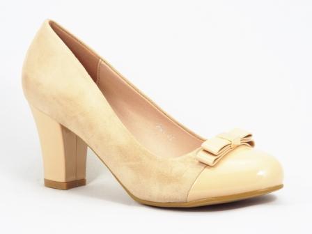 Pantofi dama bej toc 7 cm Gonya
