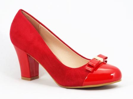 Pantofi dama rosii toc de 7 cm Gonya