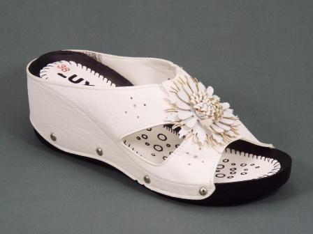 Papuci dama albi talpa ortopedica Ella