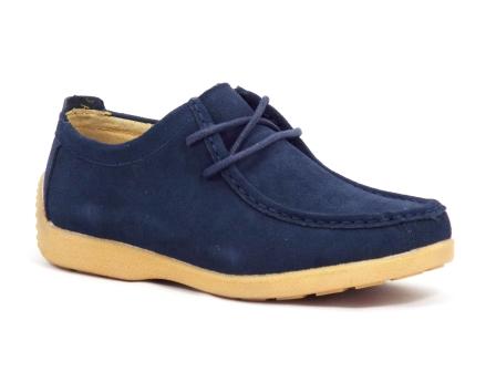 Pantofi dama albastri piele intoarsa Pantolya