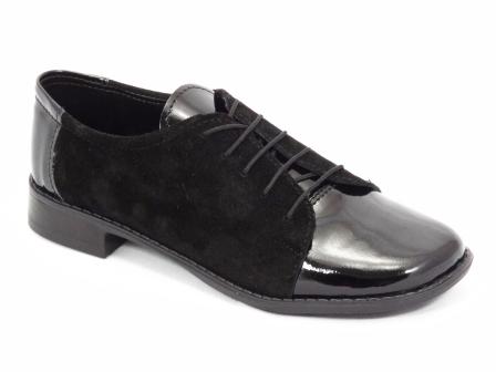 Pantofi dama NELY negri din piele naturala.