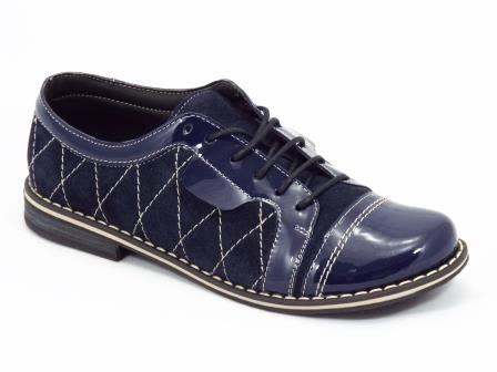 Pantofi dama albastri piele Pentola
