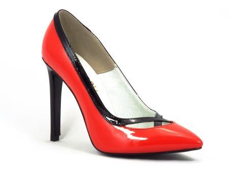 Pantofi dama rosii piele toc 10 cm stiletto Pantelyo