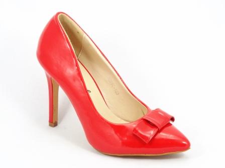 Pantofi dama rosii stiletto toc 10 cm Cryss