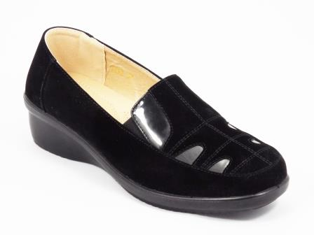 Pantofi dama negri talpa ortopedica toc 4 cm Zoryne