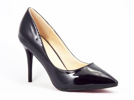 Pantofi dama negri stiletto toc 10 cm Crynna