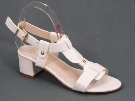 Sandale dama albe toc de 5 cm Verya