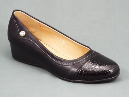 Pantofi dama negri talpa ortopedica toc 3 cm Ferynni