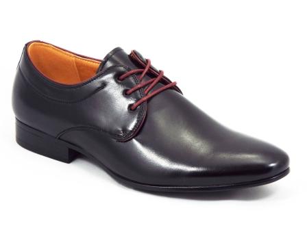 Pantofi barbati negri eleganti Meko