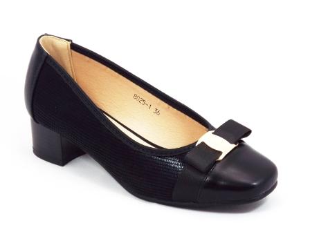 Pantofi dama negri toc 3 cm Federyka