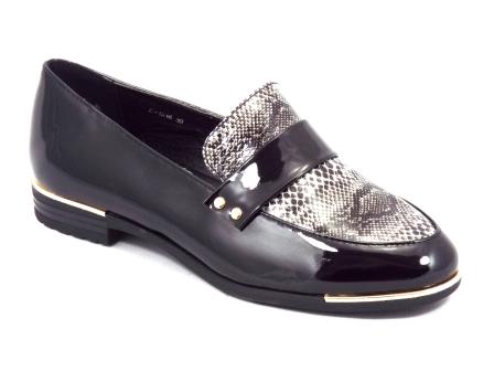 Pantofi dama negri lac toc 1,5 cm Zorynna