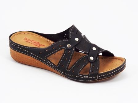 Papuci dama negri ortopedici de toc 4 cm Byasco