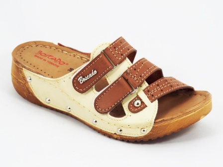 Papuci dama maro ortopedici de toc 4 cm Byasky