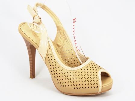 Sandale dama bej toc 10,5 cm Starry