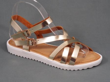Sandale dama aurii Byane