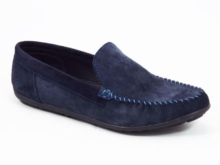 Pantofi barbati piele intoarsa albastri Lunek