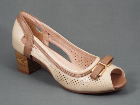 Sandale dama bej toc 5 cm Sefyo