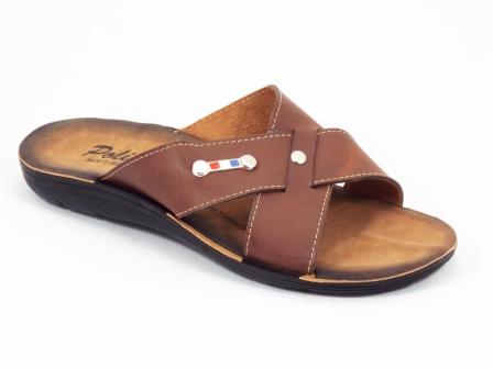 Papuci barbati maro Polino