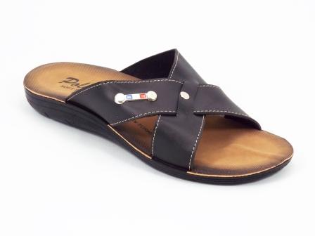 Papuci barbati negri Polino