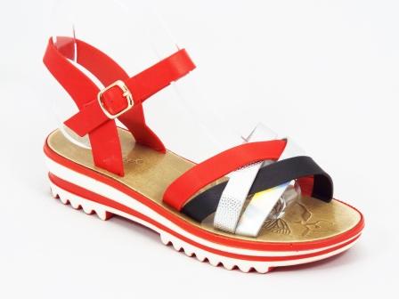 Sandale dama rosii Paulla