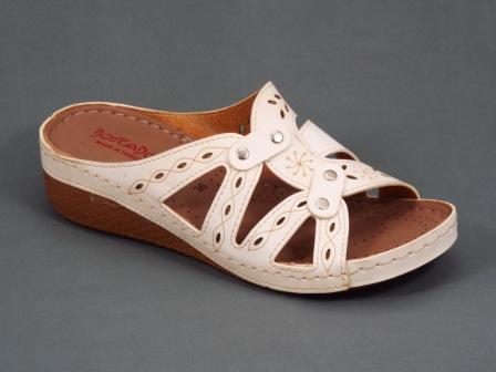 Papuci dama bej ortopedici toc 4 cm Nanna