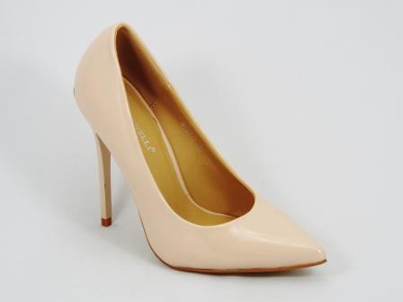 Pantofi dama bej stiletto toc 11,5 cm Grytta