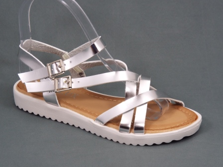 Sandale dama argintii Byane