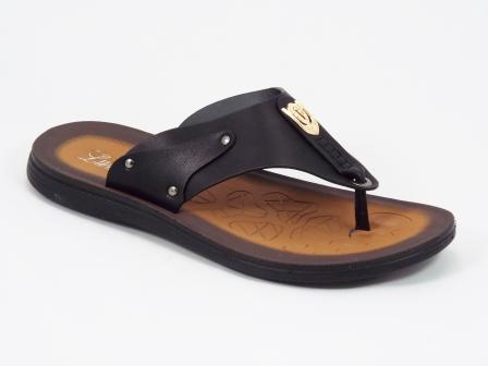 Papuci barbati negri Mansyk