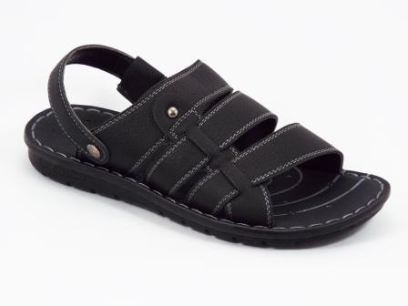 Sandale barbati negre Lonke