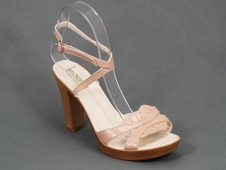 Sandale dama piele bej toc 10 cm Gyma
