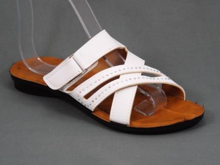 Papuci dama albi Serryna