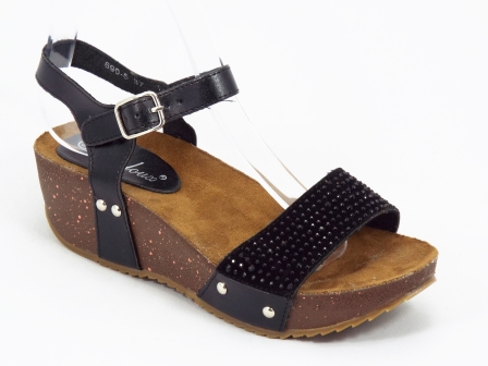 Sandale dama negre toc 4,5 cm Doreea