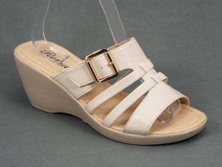 Papuci dama bej ortopedici toc 6,5 cm Herra