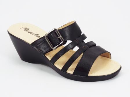 Papuci dama negri ortopedici toc 6,5 cm Herra