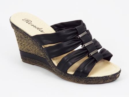 Papuci dama negri ortopedici toc 9 cm Flora