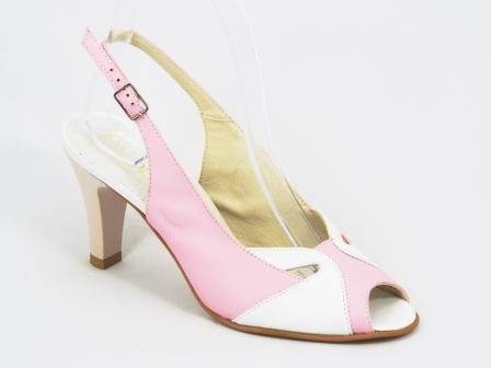 Sandale dama piele roz toc 8,5 cm Jannet