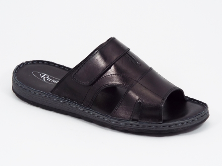 Papuci barbati piele negri Radu