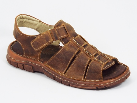 Sandale barbati piele maro Tudor