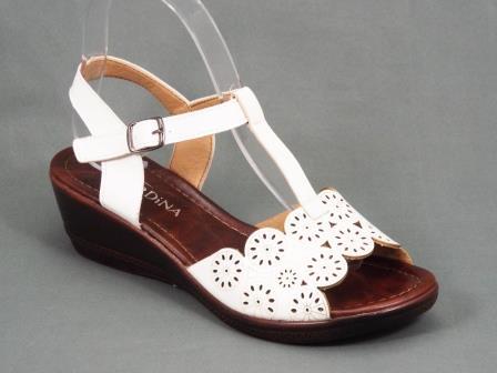 Sandale dama albe ortopedice toc 5 cm Anetty