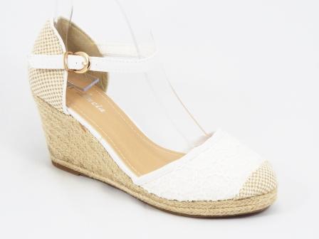 Sandale dama albe dantela talpa ortopedica Dannya