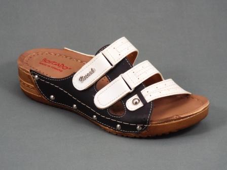 Papuci dama negri ortopedici toc 4 cm Byasky