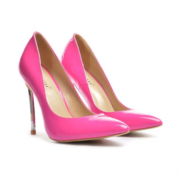 Pantofi dama fucsia stiletto toc 11 cm Sedone