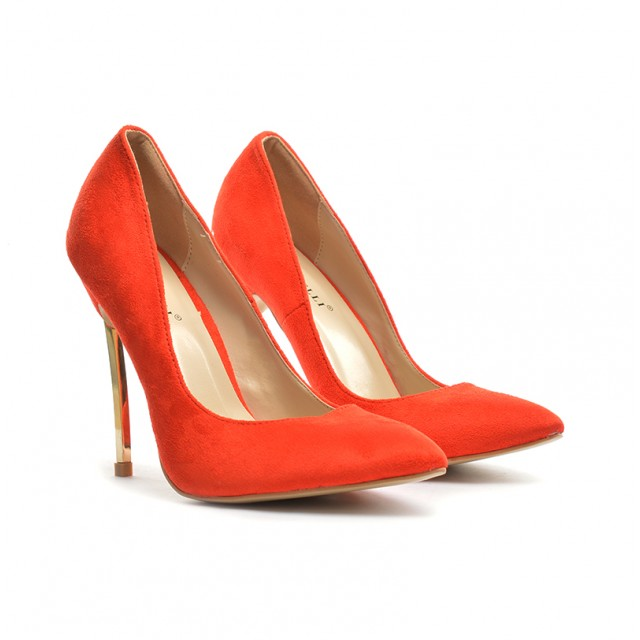 Pantofi dama rosii stiletto toc 11 cm Sedone