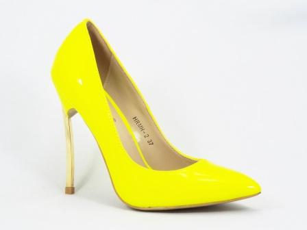 Pantofi dama galbeni stiletto toc 11 cm Sedone