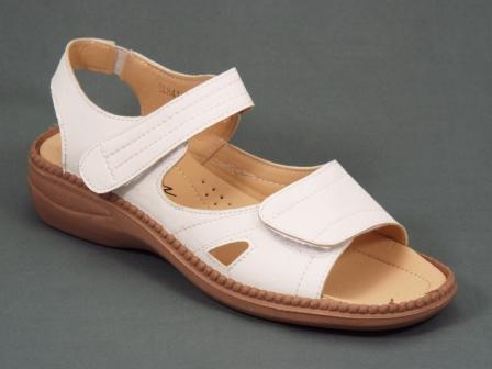 Sandale dama albe ortopedice toc 4 cm Derya