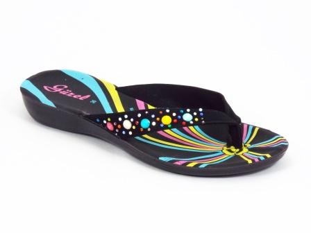 Papuci dama negri strasuri Coryna